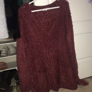 Fuzzy Sweater Dress